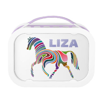 Girly Personalized Fantasy Horse Lunch Box