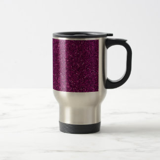 Girly Pink Abstract Glitter Photo Print Travel Mug