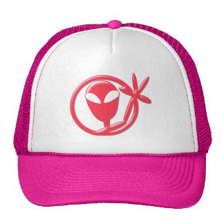 Girly Pink Alien Greeting Trucker Hat