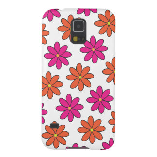 Girly Pink and Orange Flower Phone Case