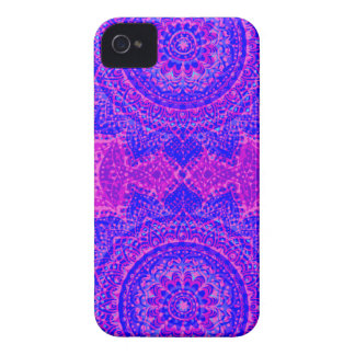 Girly pink and purple indian pattern Case-Mate iPhone 4 cases