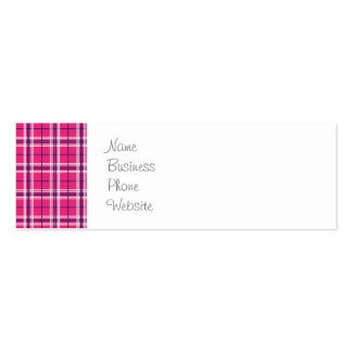 Girly Pink and Purple Plaid Pattern Gifts for Her Pack Of Skinny Business Cards