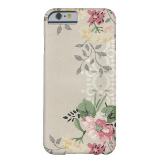 Girly Pink and Yellow Floral Barely There iPhone 6 Case