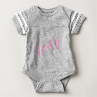 Girly Pink Baby Hand Lettered Script Baby Bodysuit