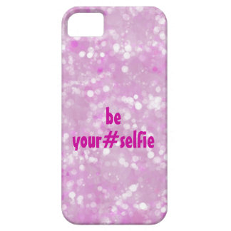 Girly Pink Be Yourself Selfie Hashtag Quote iPhone 5 Case