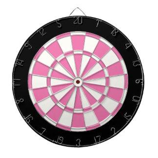 Girly Pink Black And White Dartboard