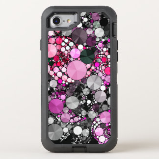 Girly Pink Bling Abstract OtterBox Defender iPhone 7 Case