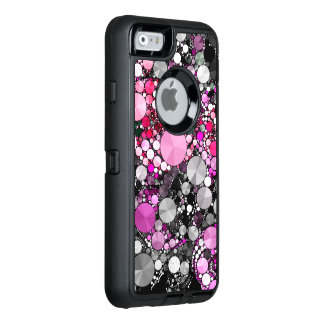 Girly Pink Bling Abstract OtterBox Defender iPhone Case