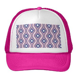 Girly Pink Blue Floral Pattern Trucker Hat