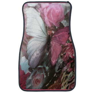 Girly Pink burtterfly Set of Car Mats