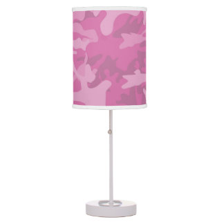 Girly Pink Camo Accent   Lamp