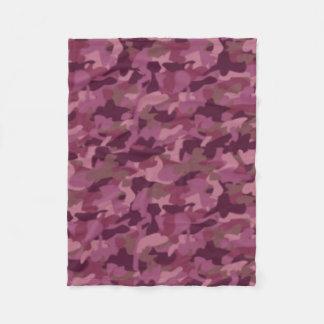 Girly Pink Camo Blanket Military Camouflage Fleece