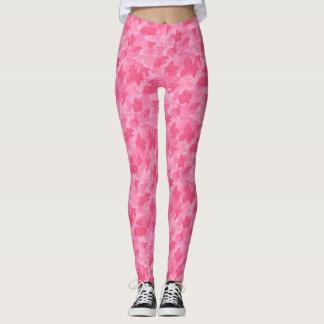 Girly Pink Camo Camouflage Yoga Running Exercise Leggings
