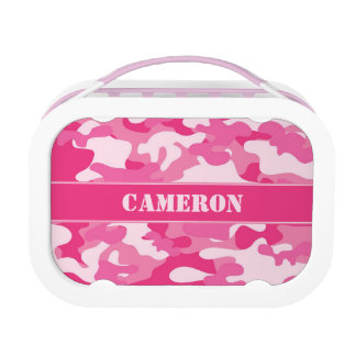 Girly Pink Camouflage (Camo) | Personalized Lunch Box