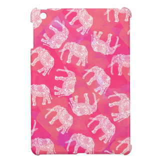 girly pink colorful tribal floral elephant pattern cover for the iPad mini