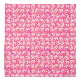 girly pink colorful tribal floral elephant pattern duvet cover