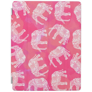 girly pink colorful tribal floral elephant pattern iPad cover