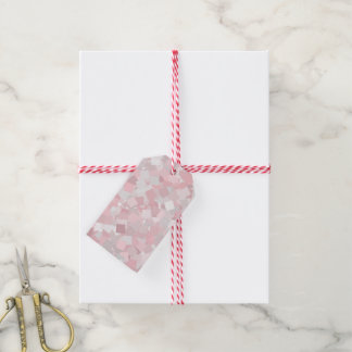 Girly pink confetti design gift tags