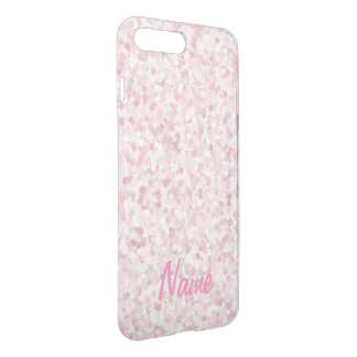 Girly pink confetti design iPhone 8 plus/7 plus case