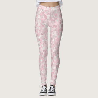 Girly pink confetti design leggings