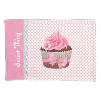 Girly Pink Cupcake Pillow Case Pillowcase