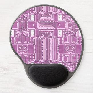 Girly Pink Cute Geek Nerdy Computer Circuit Board Gel Mouse Pad