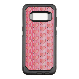 Girly Pink Cute Hearts Pattern Arrow Sweet Stripes OtterBox Commuter Samsung Galaxy S8 Case