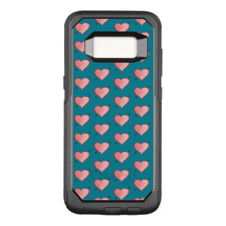 Girly Pink Cute Hearts Pattern Arrow Turquoise OtterBox Commuter Samsung Galaxy S8 Case
