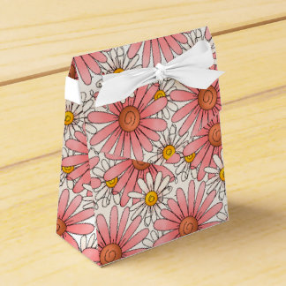 Girly Pink Daisies and White Daisies Favor Box