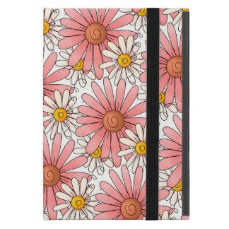 Girly Pink Daisies and White Daisies iPad Mini Cover