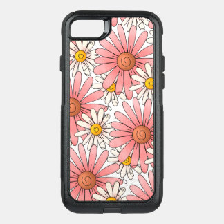 Girly Pink Daisies and White Daisies OtterBox Commuter iPhone 8/7 Case