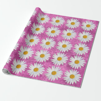 Girly Pink Floral Celebration Wrapping Paper