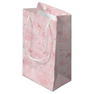 Girly Pink Flourish Soft Feminine Swirls Pattern Small Gift Bag