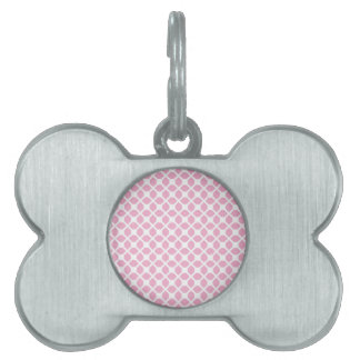 Girly Pink Geometric Pattern Pt1 Pet Name Tag