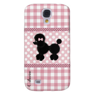 Girly Pink Gingham & Poodle Custom