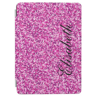 GIRLY PINK GLITTER PRINTED PERSONALIZED iPad AIR COVER