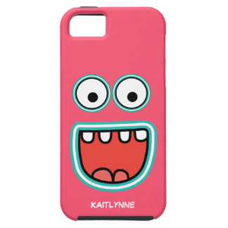 Girly Pink Googly Eye Funnyface Case For The iPhone 5