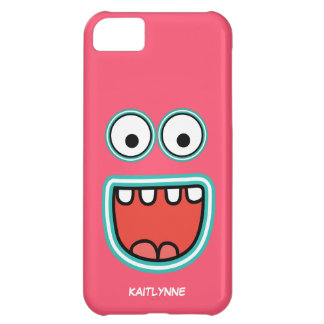 Girly Pink Googly Eye Funnyface iPhone 5C Case