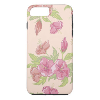 Girly Pink Hibiscus iPhone 7 Plus Case