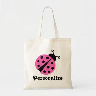 Girly pink ladybug tote bag | Cute ladybird design