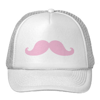 Girly Pink Mustache Hats