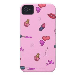 Girly Pink Pattern Case-Mate iPhone 4 Cases