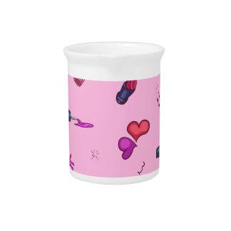 Girly Pink Pattern Pitcher