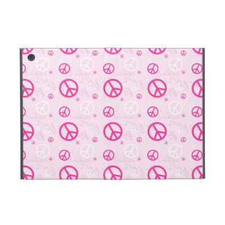 Girly Pink Peace Signs Cases For iPad Mini