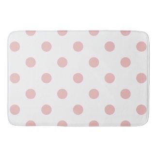 Girly Pink Polka Dots Bath Mat