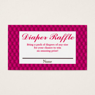 Girly Pink Princess Diaper Raffle Business Card