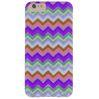 Girly Pink Purple Chevron Silver Glitter Photo Pri Barely There iPhone 6 Plus Case