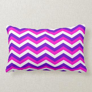 Girly Pink & Purple Chevron Zigzag Pattern Pillow