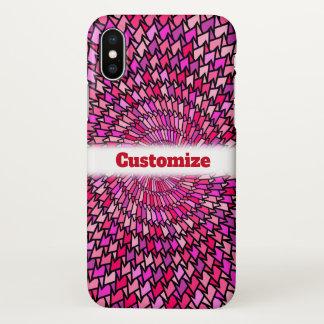 Girly Pink & Purple Swirly Pattern; Custom Name iPhone X Case