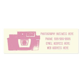 Girly Pink Retro Film Camera Business Card